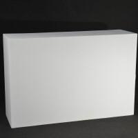 desk dritto legno multistrato bianco