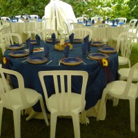 sedia bistrot in resina bianca