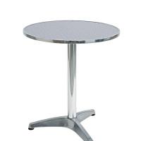 tavolo circolare in alluminio