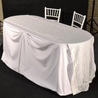 tavolo ovale sposi 188x80