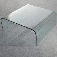 tavolo basso in vetro