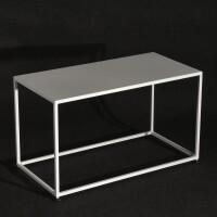 tavolo basso laccato bianco cm 40x80xh45