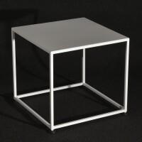 tavolo basso laccato bianco cm 50x50xh45